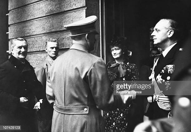 Ribbentrop His Wife The Admiral Von Horthy Welcoming Hitler At Berlin In Germany On August 26Th 1938