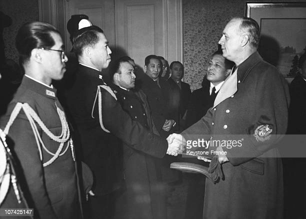 Ribbentrop Received The Japanese Ambassador Hiroshi Oshima At Berlin In Germany On December 8Th 1943