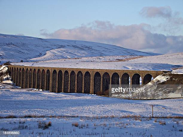 CONTENT] Ribblehead Viaduct SettleCarlisle Railway Line Erected between 18701874 by over 1000 Navvies Scheduled Ancient Monument and Grade 2 Listed...