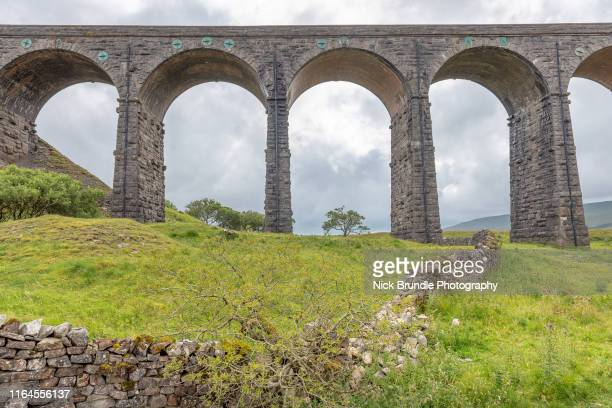 ribblehead viaduct, yorkshire, uk - north yorkshire stock pictures, royalty-free photos & images