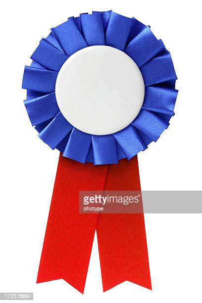 ribbon / award - blue ribbon stock photos and pictures