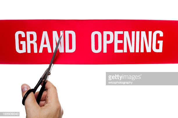 ribbon cutting event - opening ceremony stock pictures, royalty-free photos & images