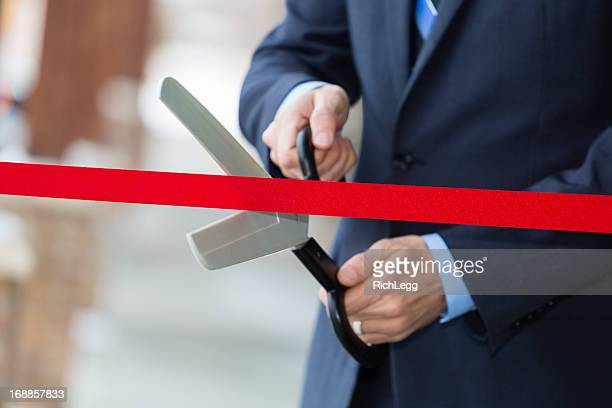 ribbon cutting - opening ceremony stock pictures, royalty-free photos & images