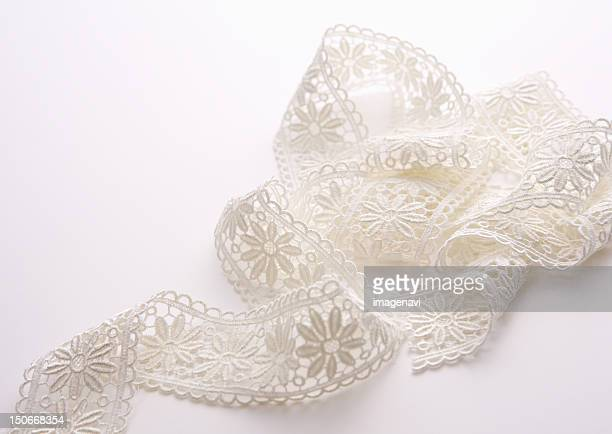 ribbon lace - lacemaking stock pictures, royalty-free photos & images