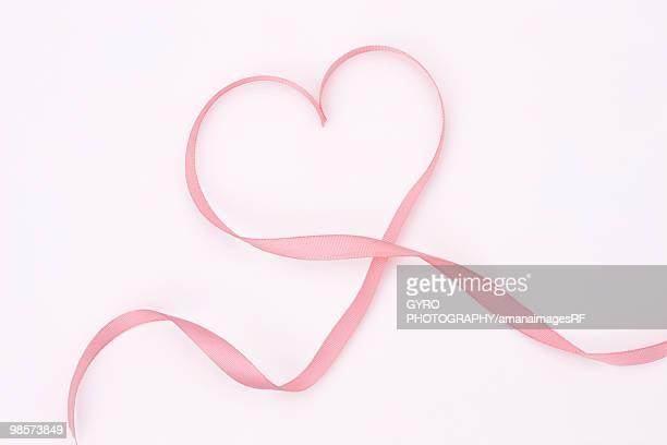 Ribbon making heart shape