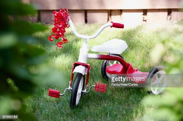 Ribbon on tricycle