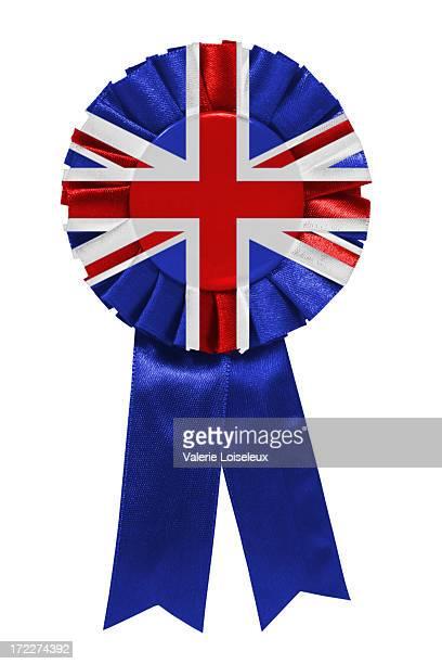 uk ribbon - britse vlag stockfoto's en -beelden