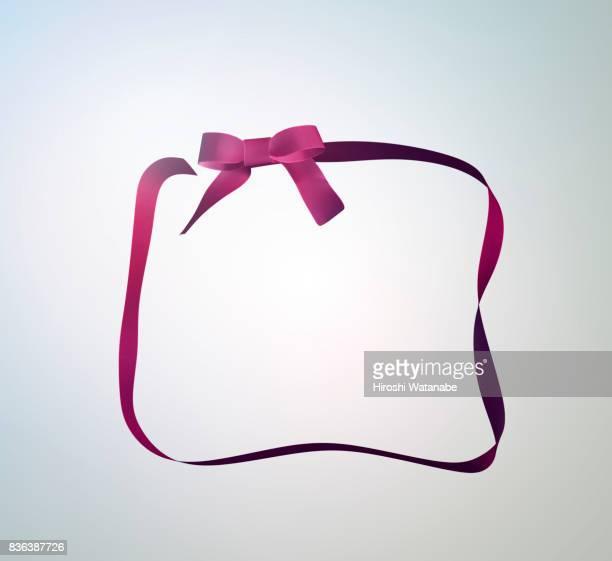 Ribbon that shaped gift box