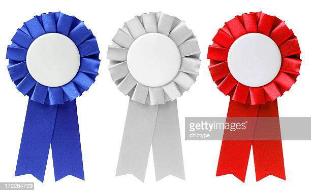 ribbons / awards - blue ribbon stock photos and pictures