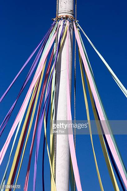 ribbons hanging from a maypole