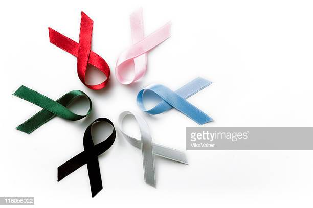 ribbons - blue cancer ribbon stock photos and pictures