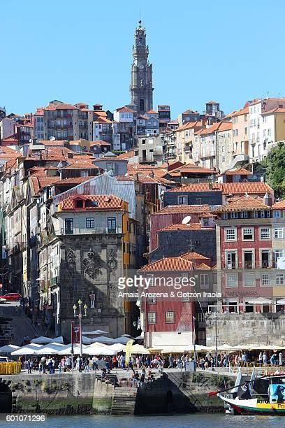 Ribeira district in Porto from Vila Nova de Gaia