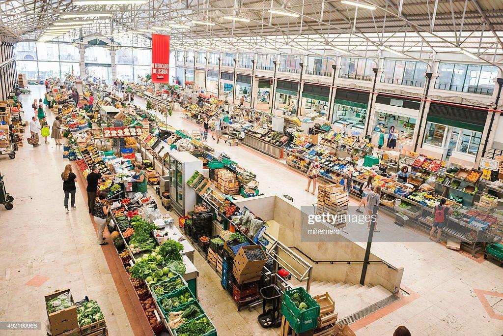 Mercado da Ribeira in Lisbon : Stock Photo