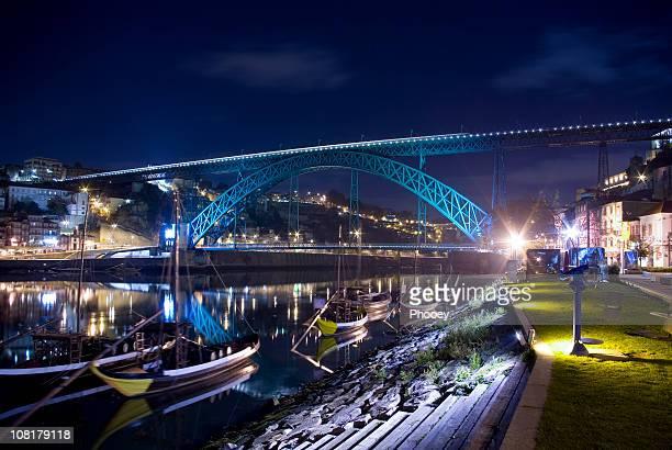 Ribeira in Porto at Night