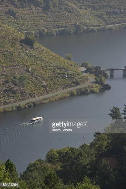 Ribeira Sacra Galicia River Mino and vineyards Chantada Lugo
