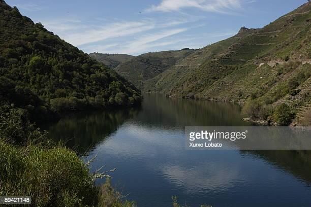 Ribeira Sacra Galicia River Sil and vineyards OrenseLugo