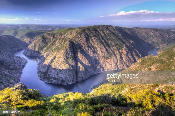 ribeira sacra (sil river canyons) - cammino di santiago di compostella foto e immagini stock