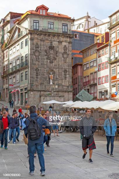 ribeira square in porto - gwengoat stock pictures, royalty-free photos & images