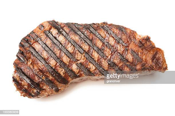 Ribeye Beef Steak Isolated on White