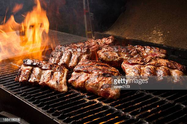 Ribs On A Grill