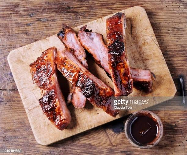 ribs - pork stock pictures, royalty-free photos & images