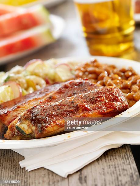 BBQ Ribs with a Beer