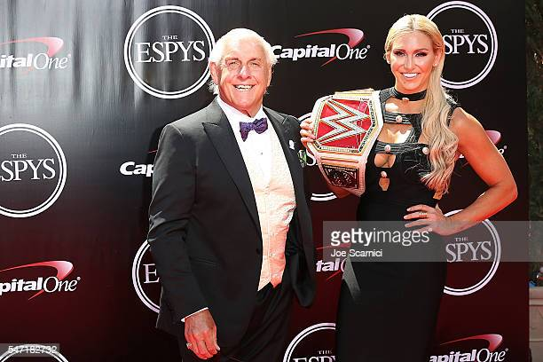 Ric Flair arrives at The 2016 ESPYS at Microsoft Theater on July 13 2016 in Los Angeles California