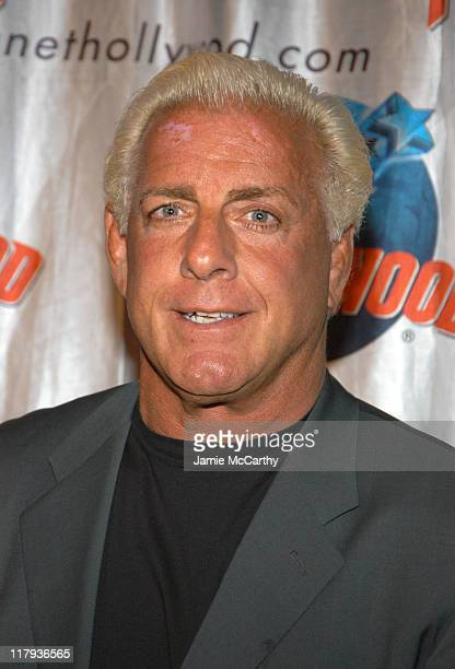Ric Flair during WWE Superstar Ric Flair Signs Copies of his New Autobiography 'To Be The Man' at Planet Hollywood in New York City New York United...