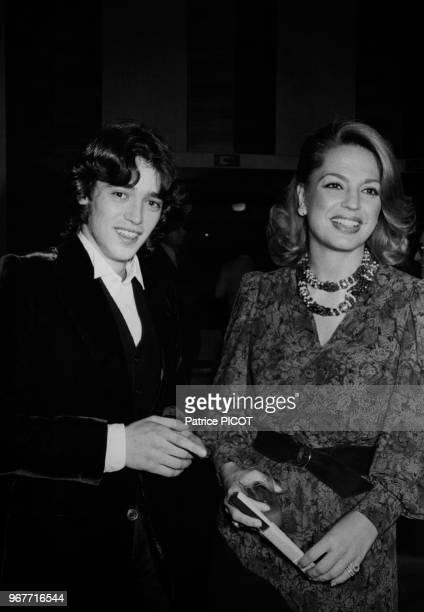 Éric Hakim Adjani et Ira de Furstenberg à la 1ère du film 'Don Giovanni' à Paris le 25 octobre 1979 France