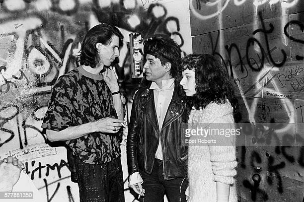 Ric Ocasek of the Cars and Alan Vega of Suicide Backstage at Max's Kansas City on January 18, 1980.