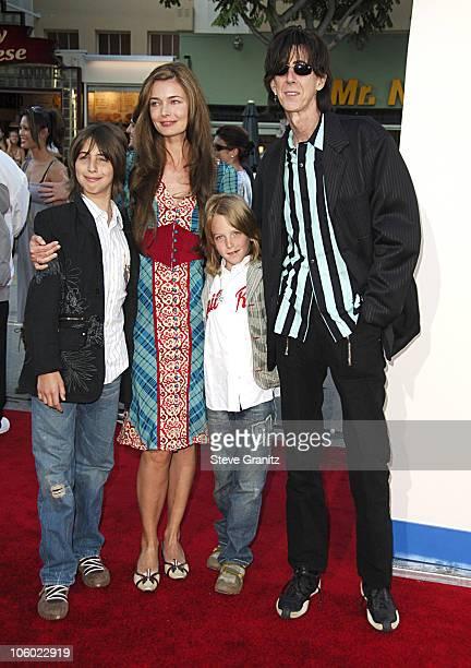 Ric Ocasek of The Cars , wife Paulina Porizkova and kids