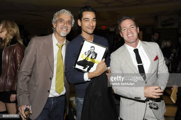 Ric Pipino Tenzin Wild and Ben Watts attend Moet Chandon hosts the Launch of Ben Watt's LICKSHOT and the new Morgans Hotel Group CD at Hudson Hotel...