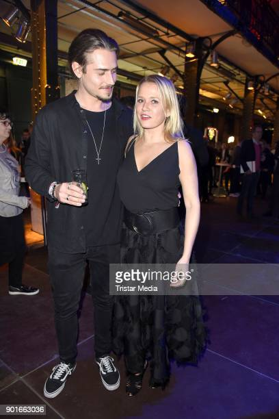 Ric Wersig and Nova Meierhenrich attend the Channel Aid Concert at Elbphilharmonie on January 5 2018 in Hamburg Germany