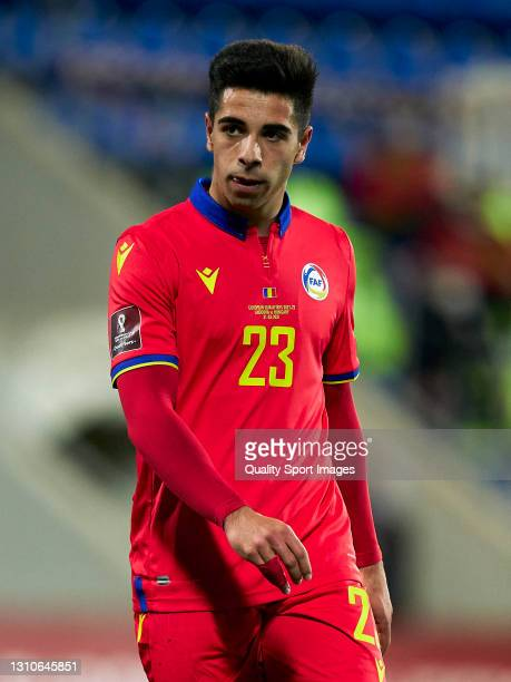 Ricard Fernandez 'Cucu' of Andorra looks on during the FIFA World Cup 2022 Qatar qualifying Group I match between Andorra and Hungary on March 31, at...