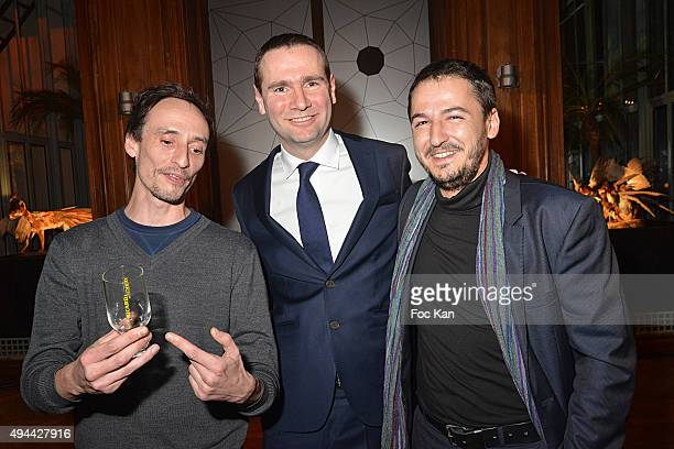 Ricard Laureat 2015 Florian Pugnaire Alexandre Ricard and Ricard Laureat 2015 David Raffini attend 'Le Bal Jaune 2015' Dinner Party At Hotel Salomon...