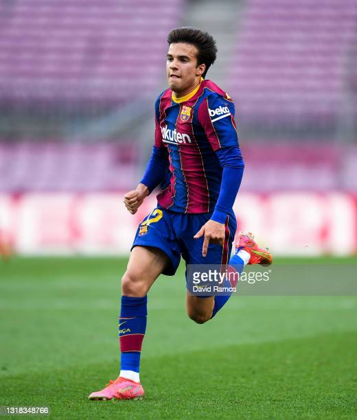 Ricard 'Riqui' Puig of FC Barcelona runs with the ball during the La Liga Santander match between FC Barcelona and RC Celta at Camp Nou on May 16,...
