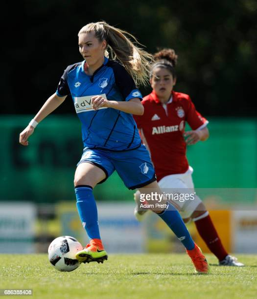 Ricarda Schaber of FC Bayern Munich II in action during the match between 1899 Hoffenheim II and FCB Muenchen II at St Leon football ground on May 21...