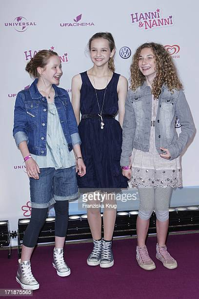Ricarda Zimmerer Lisa Vicari And Zoe Thurau In The Hanni and Nanni movie premiere in Mathäser movie palace in Munich