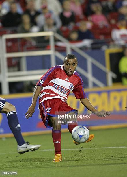 Ricardinho of FC Dallas takes control of the ball against the New York Red Bulls on April 12, 2008 at Pizza Hut Park in Frisco Texas.