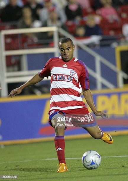Ricardinho of FC Dallas takes control of the ball during the New York Red Bull v FC Dallas match on April 12 2008 at Pizza Hut Park in Frisco Texas