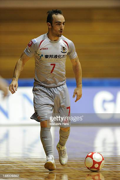 Ricardinho of Nagoya oceans in action during the FLeague match between Fuchu athletic and Nagoya oceans at the Machida Gymnasium on July 14 2012 in...