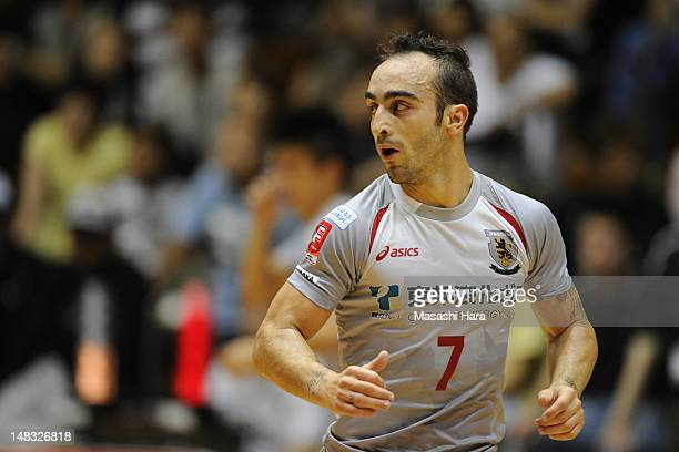 Ricardinho of Nagoya oceans looks on during the FLeague match between Fuchu athletic and Nagoya oceans at the Machida Gymnasium on July 14 2012 in...