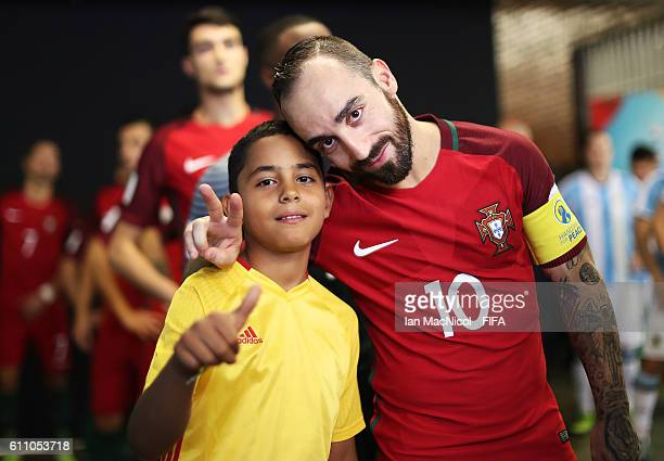 Ricardinho of Portugal is seen in the tunnel area prior to the FIFA Futsal World Cup Semi Final match between Argentina and Portugal at the Coliseo...