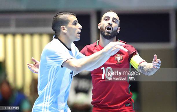 Ricardinho of Portugal reacts during the FIFA Futsal World Cup Semi Final match between Argentina and Portugal at the Coliseo el Pueblo Stadium on...