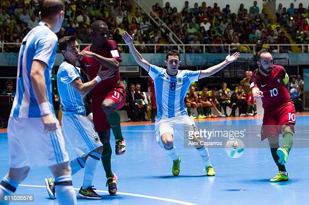 Ricardinho of Portugal shoots the ball during the FIFA Futsal World Cup SemiFinal match between Argentina and Portugal at the Coliseo El Pueblo...