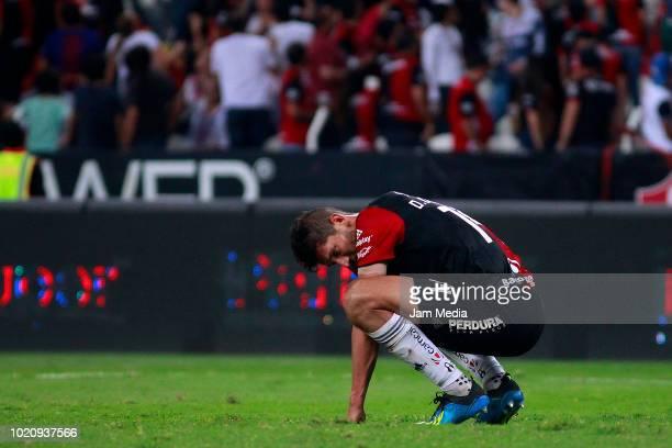 Ricardo Alvarez of Atlas lament during the fifth round match between Atlas and Morelia as part of the Torneo Apertura 2018 Liga MX at Jalisco Stadium...