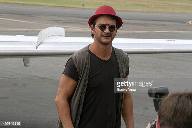Ricardo Arjona is sighted at Isla Grande Airport on June 4 2014 in San Juan Puerto Rico