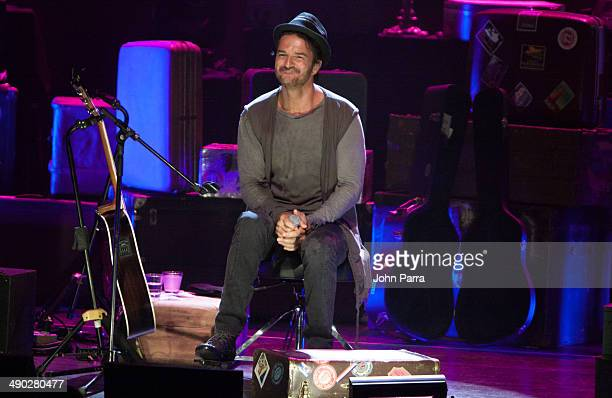 Ricardo Arjona performs during a private concert at Gusman Center for the Performing Arts on May 13 2014 in Miami Florida