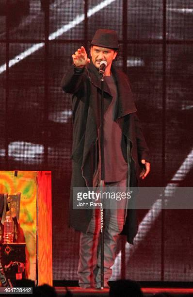 Ricardo Arjona performs onstage at American Airlines Arena on February 27 2015 in Miami Florida
