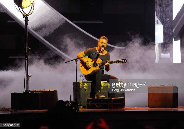 Ricardo Arjona performs onstage at the Billboard Latin Music Awards at Watsco Center on April 27 2017 in Coral Gables Florida